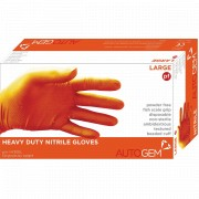 Image for Large Orange Nitrile Gloves