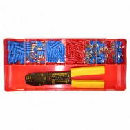 Image for Assorted Push On Terminals - Red / Blue & Crimp Tool
