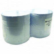 Image for 2 x Large Twin Ply Blue Paper Roll - 400m