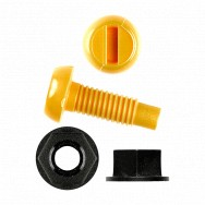 Image for Yellow Nylon Screws & Black Nylon Nuts