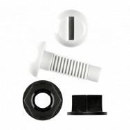 Image for White Nylon Screws & Black Nylon Nuts
